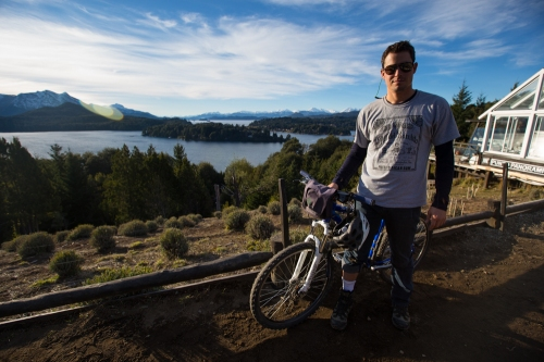 Brandon taking in the Bariloche landscape