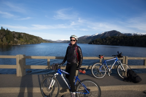 Taking in the beautiful views from our cycling tour