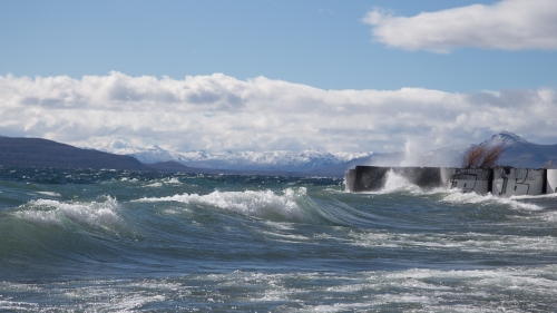 Surf-able waves on Lake Naguel Huapei!