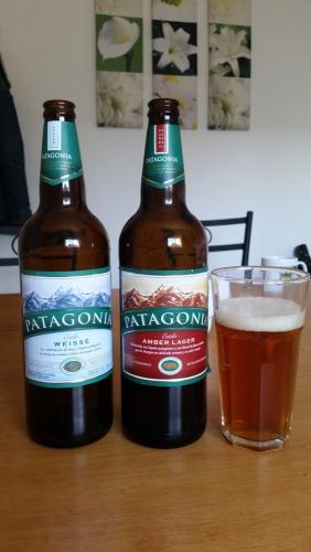 A colorful assortment of Patagonia Cervezas!