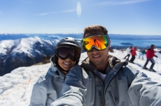Selfie from the top of Nevada chair
