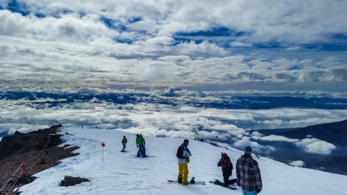The view from the top of Nubes chair on a cloudy laden day give credence to its name
