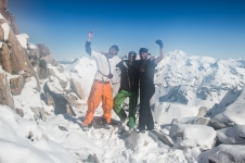 Luke, Vincenz and myself at the top. My lens got fogged up which is why this shot seems blurred.