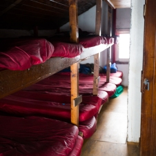 This is the dormitorio. It has enough bunks to sleep like 30 people, but thankfully the second night there were only 7 of us!
