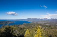 This is the view to the southeast looking toward Bariloche with Lake Nahuel Huapi.