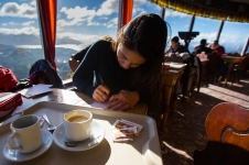 There is a cafe at the top of Cerro Campanario and if you receive a postcard from Donna, this is where she wrote them.