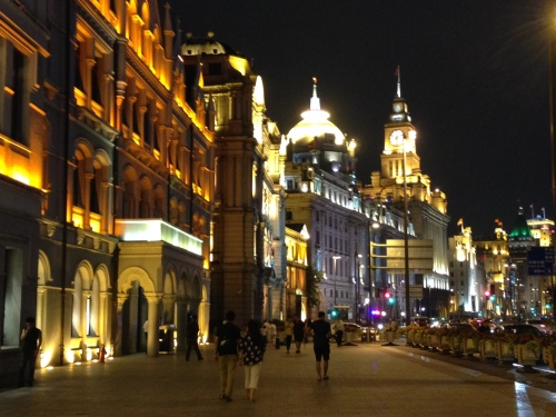 The Bund looking beautiful at night!