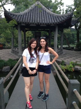 Melissa and me exploring West Lake in Hangzhou during our weekend getaway