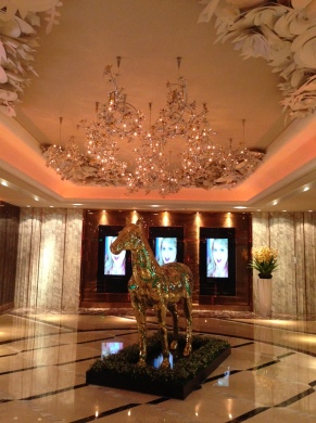 Swanky Karaoke Club Entrance. When it comes to Karaoke, China ain't horsin' around!!