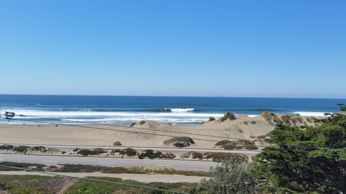 There was a pumping south swell when I first arrived back from Chile.