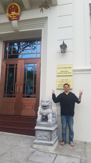 Me at the Chinese consulate