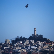 Angels coming around Coit Tower