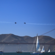 High speed close encounters over the Golden Gate