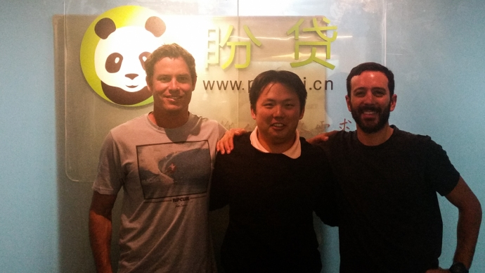 At the offices of Pandai, a Peer-2-Peer lending company run by Brandon's friend Roger in Beijing
