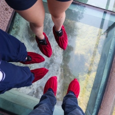 It was kinda trippy walking on the glass walkway!
