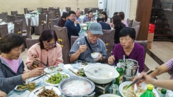 A random photo from one of our many Chinese meals.