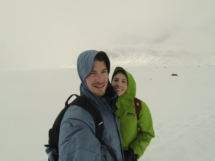 During the ascent it was windy and there was poor visibility