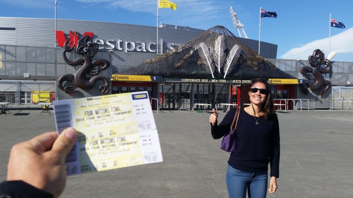 Just after we bought our tickets for the Rugby League Finals.