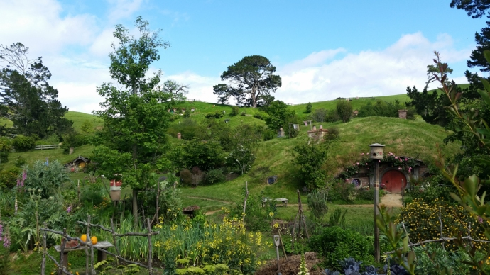 Hobbiton, straight from the movies!
