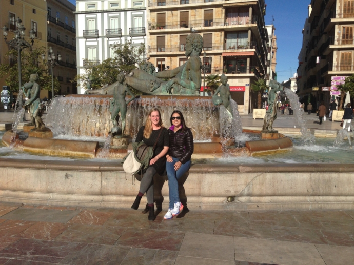 Margot and me in the center of town