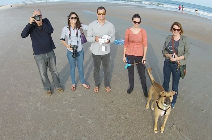 Family drone photo