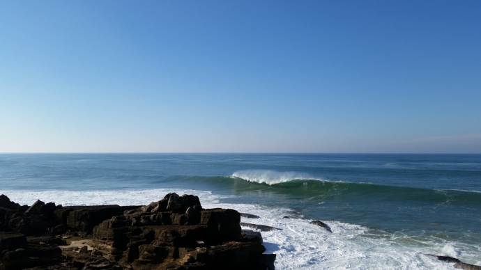 I ended up surfing Furnas, which is basically in the town of Ericeira.  It was fun and I was the only one out for awhile.