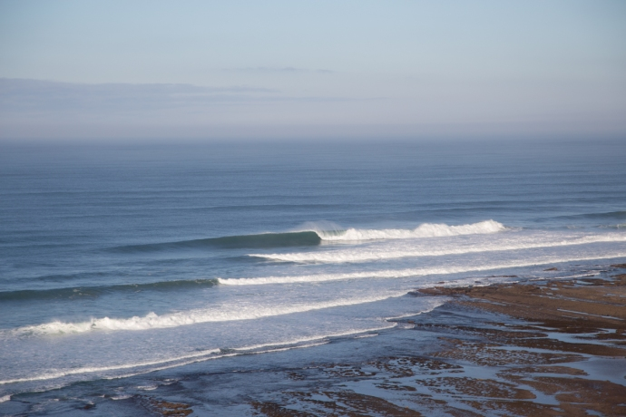 My first glimpse of the surf in Portugal got me very excited.  Big waves and perfect conditions at Ribeira d'Ilhas