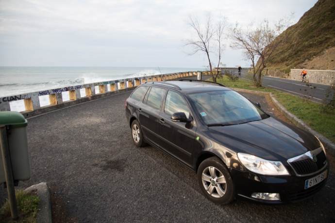 The Skoda Octavia Greenline Edition.  Diesel motor that gets like 50mpg, perfect for long surf trip exploits