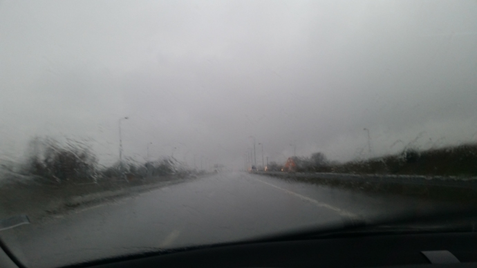 The drive back was in bad weather, with pouring rain once I was in Portugal