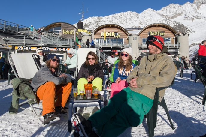 Apres ski after an intense day (for me at least)