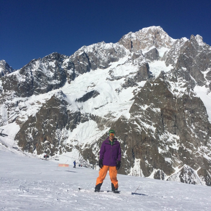 The Italian side of Mont Blanc is way steeper -- but equally impressive -- as the French side
