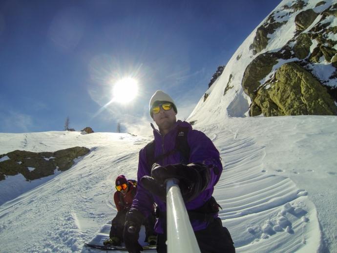 GoPro selfie stick, bru!