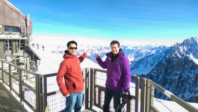 At the top of the Midi