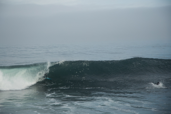 Chilean getting barreled