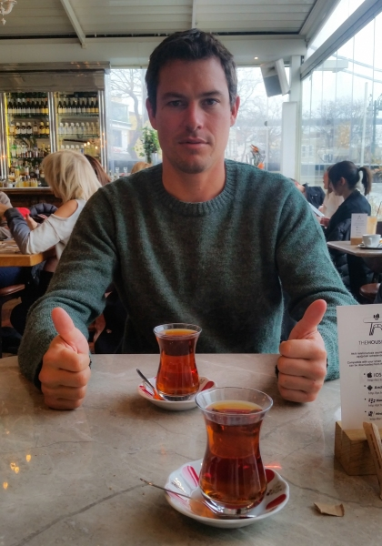 Brandon and Turkish tea