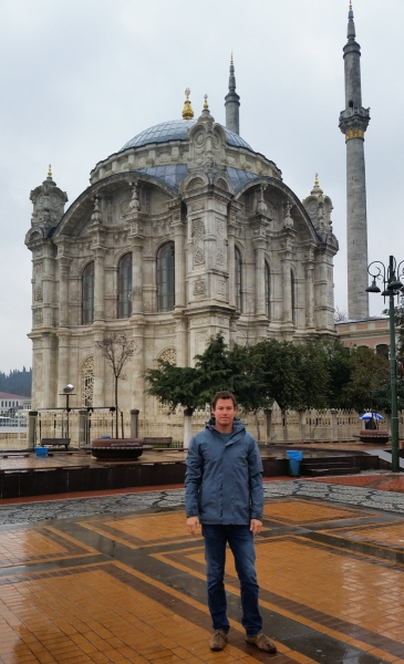 Brandon in front of the Ortakoy Mosque