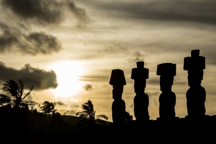 The Moai at Anakena