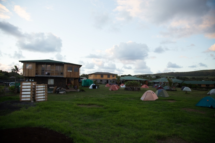 Another view of Camping Mihinoa. We stayed in the leftmost building.
