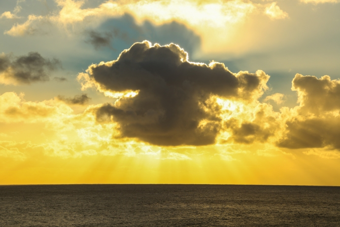 The tropical clouds make for frequent brilliant sunsets in Rapa Nui. This place really is a photographers dream.