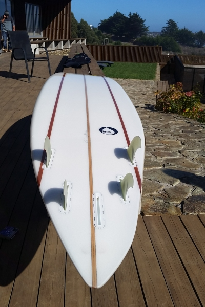Ben Wilkinson's asymmetrical gun. I saw him crack some serious off the lip turns on this thing in 20 foot surf.