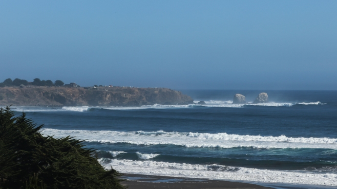Punta Lobos with a solid swell filling in