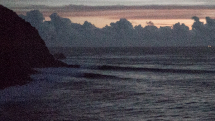 This is a mega ISO shot of Mataveri after we surfed it one evening. Those lines are bigger than they look.