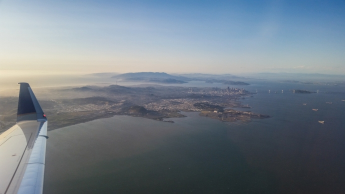 Leaving the gorgeous Bay Area