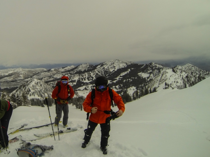 Backcountry skiing the Wasatch. We got a lucky dusting of fresh snow to make things a better than average (for that year)