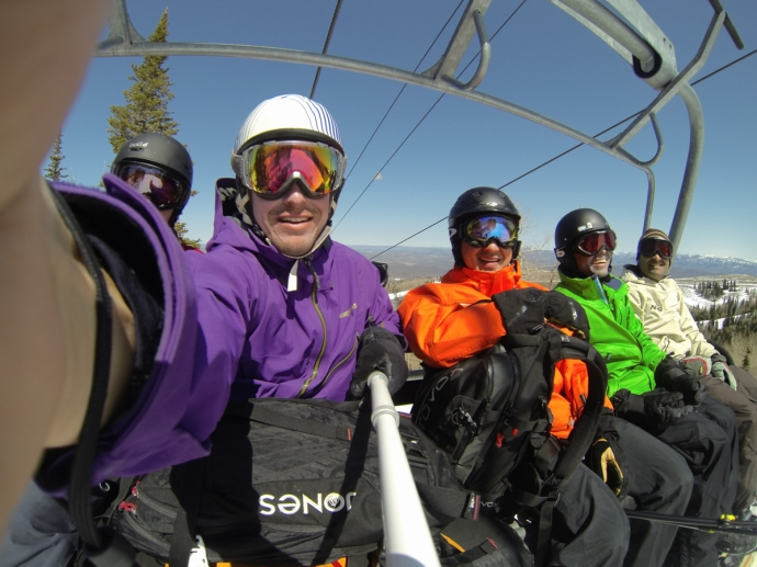 Good times with the boys. It was bluebird for the 2 days we skied Park City.
