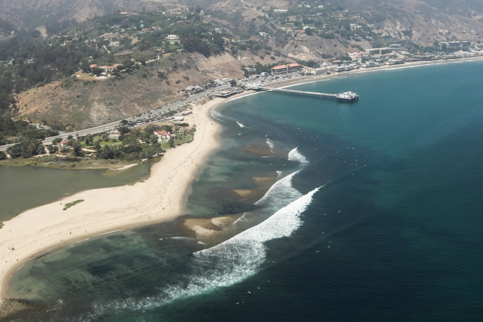 Malibu point looking mighty fine from the air