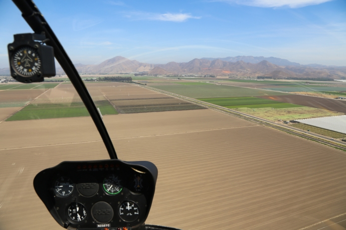 Dropping into the agricultural Oxnard flats