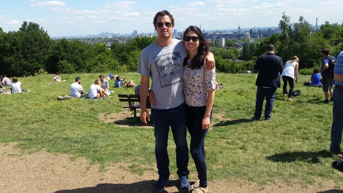 Donna and I at Hampstead Heath, one of the highest points in London