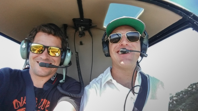 Selfie while flying a helicopter!